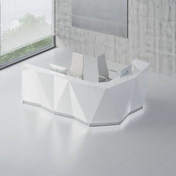 Alpa ALP17P Reception Desk, White