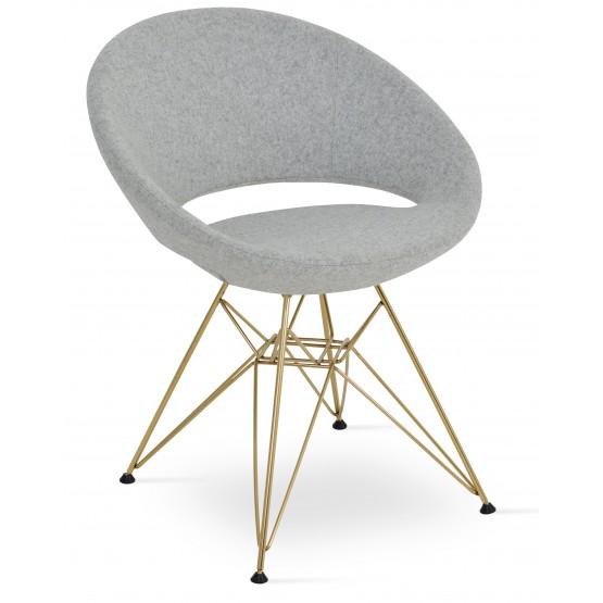 Crescent Tower Chair, Gold Brass, Silver Camira Wool photo
