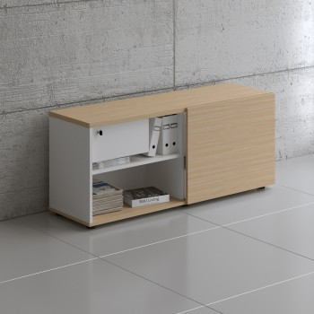 Managerial Storage A14M, White + Beech