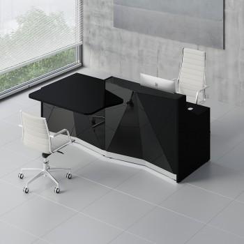 Alpa ALP21P Reception Desk, Black