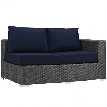 Sojourn Outdoor Patio Sunbrella® Right Arm Loveseat, Canvas Navy by Modway