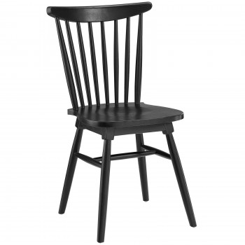 Amble Dining Side Chair, Black by Modway
