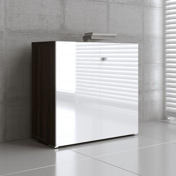 Mito 2-Door Storage MIT21, Dark Sycamore + White High Gloss