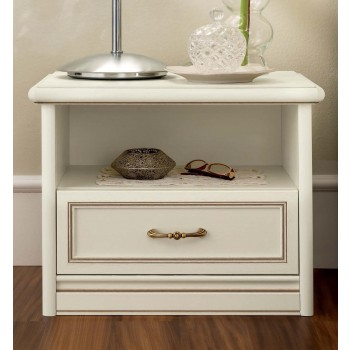 Nostalgia 1-Drawer Nightstand, Ash