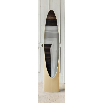 Kolonaky Mirror, Cream Eco-Leather