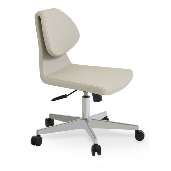 Gakko Office Chair, Base A2, Bone PPM photo