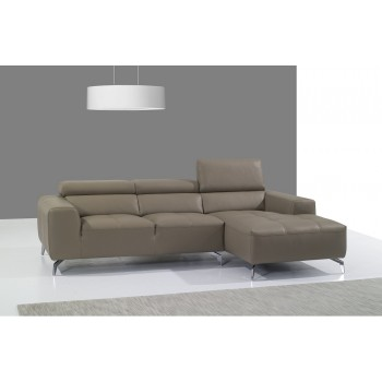 A978B Italian Leather Sectional, Right Arm Chaise Facing, Burlywood by J&M Furniture