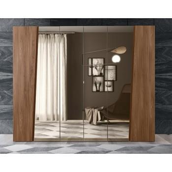 Akademy 6-Door Wardrobe w/Mirror