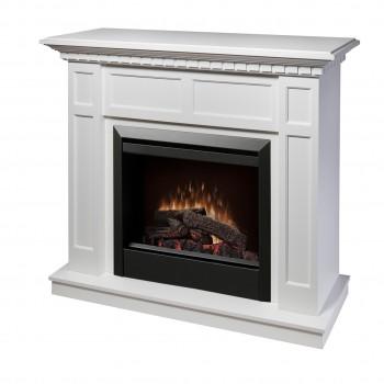 """Caprice Fireplace, White Finish, 23"""" Log Set Firebox"""
