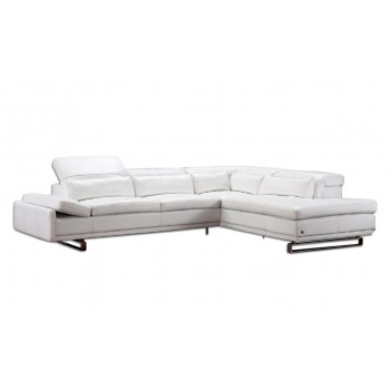 Cliff Sectional, Right Arm Chaise Facing, White