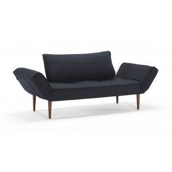 Zeal Deluxe Daybed, 515 Nist Blue Fabric + Dark Wood Legs