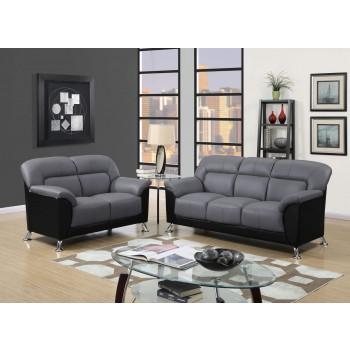 U9102 3-Piece Living Room Set, Grey