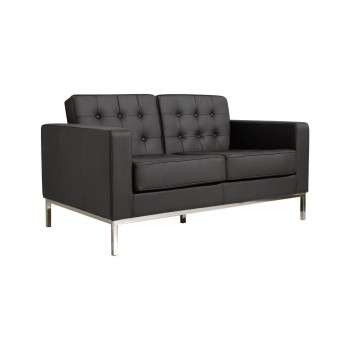Silvania Loveseat, Black