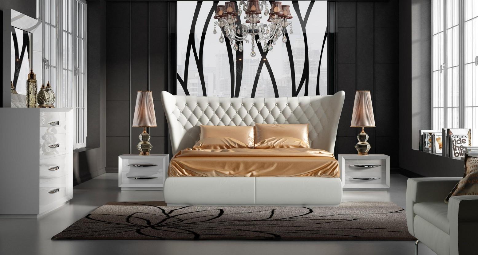 Carmen King Size Bedroom Set Composition 2 White Buy Online At