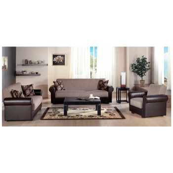 Enea 3-Piece Living Room Set, Redeyef Brown