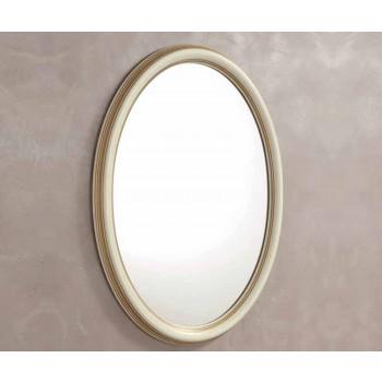 Treviso Oval Mirror, White Ash