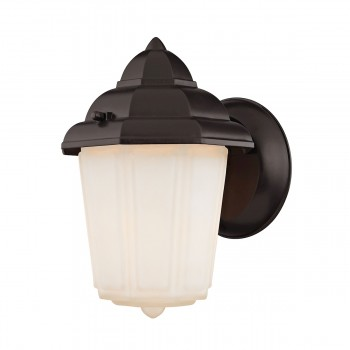 1 Light Outdoor Wall Sconce Lamp in Oil Rubbed Bronze 2