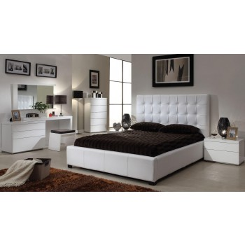 Athens 3-Piece King Size Bedroom Set, White by At Home USA