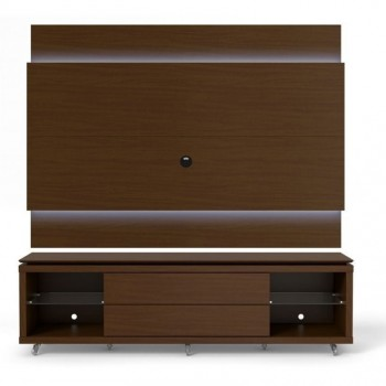 """Lincoln 85.43"""" Stand & Panel, Nut Brown"""