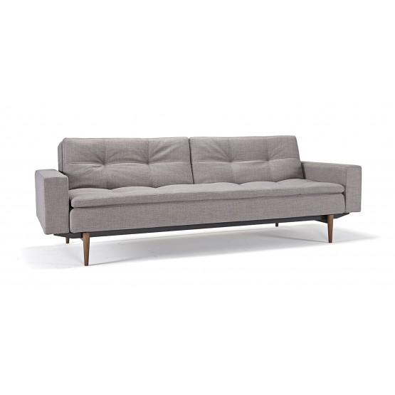 Dublexo Sofa Bed w/Arms, 505 Begum Grey Fabric photo