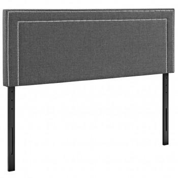 Jessamine Full Fabric Headboard, Gray by Modway
