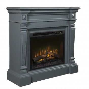 Heather Mantel Electric Fireplace, Wedgewood Grey Finish, Realogs (XHD28) Firebox
