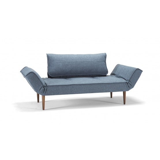 Zeal Deluxe Daybed, 525 Mixed Dance Light Blue + Dark Wood Legs photo