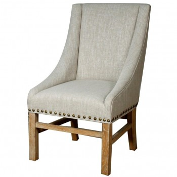 Aaron Sloping Arm Chair, Rice by NPD (New Pacific Direct)