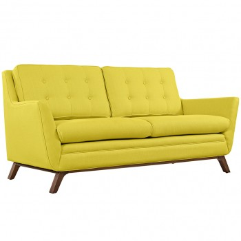 Beguile Fabric Loveseat, Sunny by Modway