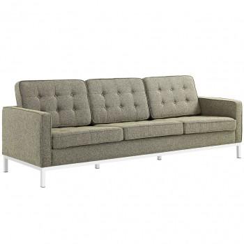 Loft Fabric Sofa, Oatmeal by Modway
