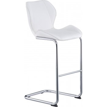 D1446BS Barstool, White