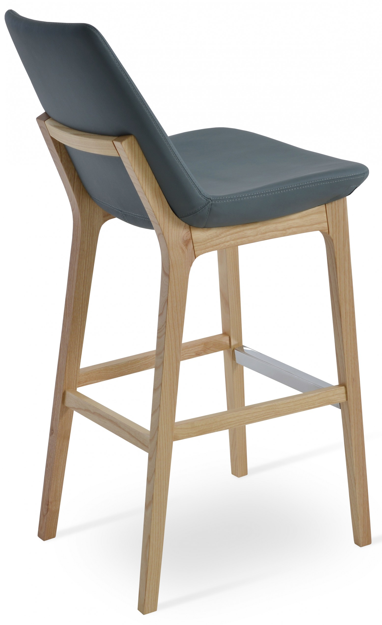 Phenomenal Eiffel Wood Counter Stool Natural Ash Smoke Grey Ppm Dailytribune Chair Design For Home Dailytribuneorg