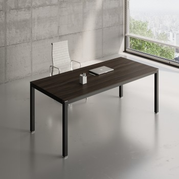 Impuls Desk IM06, Black + Chestnut