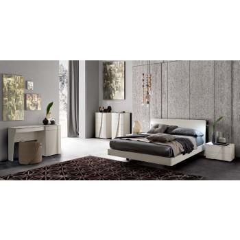 Luna Eclisse 3-Piece Queen Size Storage Bedroom Set, White Ash