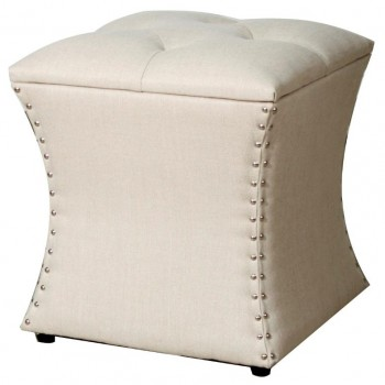 Amelia Nailhead Ottoman, Sand by NPD (New Pacific Direct)