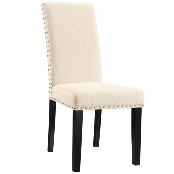 Parcel Dining Fabric Side Chair, Beige by Modway