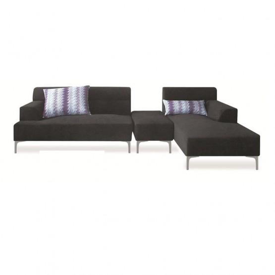 Manhattan Sectional Sofa, Right Arm Facing, Black photo
