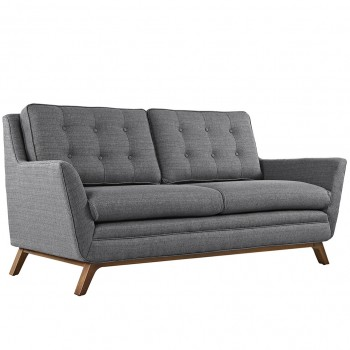 Beguile Fabric Loveseat, Gray by Modway
