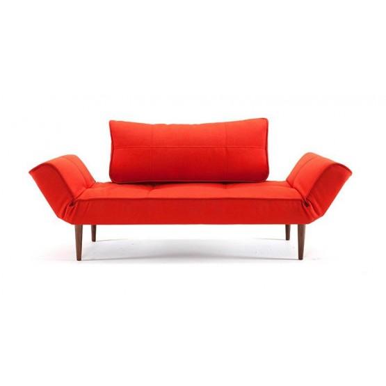 Zeal Deluxe Daybed, 751 Basic Orange Fabric + Dark Wood Legs photo