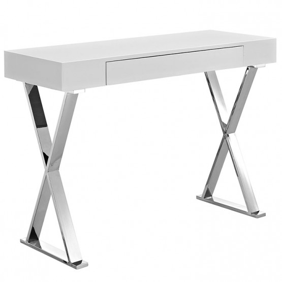 Sector Console Table, White photo