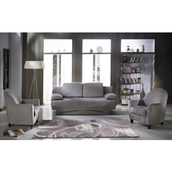 Fantasy 2-Piece Living Room Set, Valencia Gray