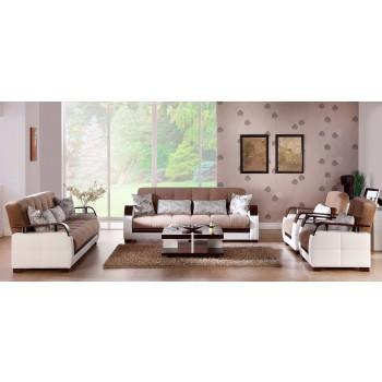 Natural 3-Piece Living Room Set, Naomai Light Brown