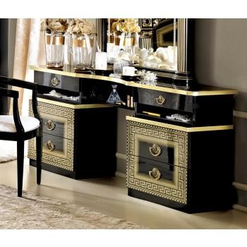 Aida Vanity Dresser, Black + Gold