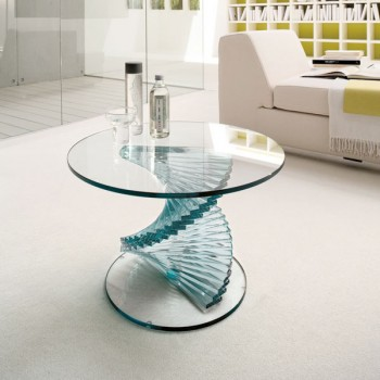 Ariel Side Table, Extra Clear Transparent