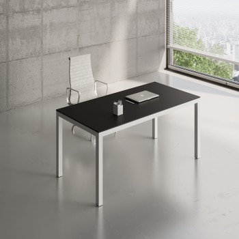Impuls Desk IM04, White Pastel + Black