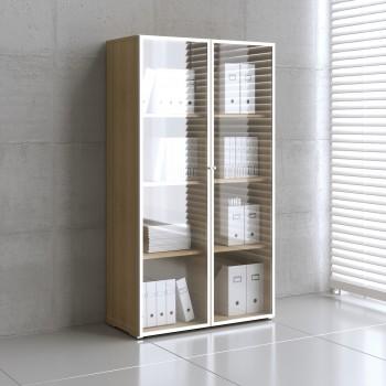 Mito Storage w/Glass Doors MIT16, Light Sycamore