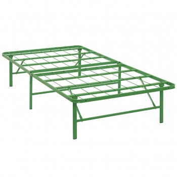 Horizon Twin Stainless Steel Bed Frame, Green by Modway