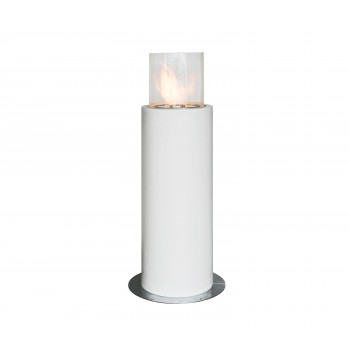 Faro Commerce Outdoor Fireplace, White