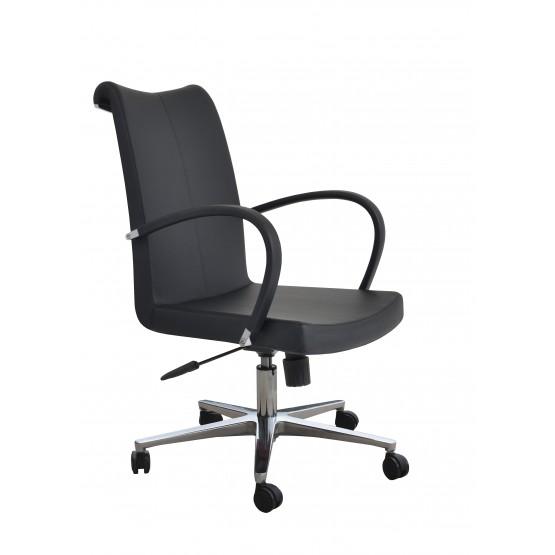 Tulip Arm Office Chair, Base A1, Black PPM photo