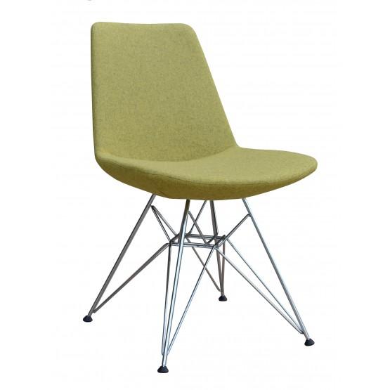 Eiffel Tower Chair, Chrome, Amber Camira Wool photo